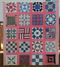 sampler quilt 1870