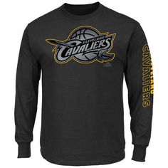 Cleveland Cavaliers Majestic Up and Over Long Sleeve T-Shirt - Black