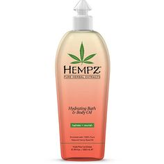 Hempz Hydrating Bath & Body Oil with Pure Natural Hemp Seed Oil and Miracle Oil Blend is a silky, lightweight, non-greasy essential moisturizer that vanishe Hempz Lotion, Pure Products, Beauty Products, Beauty Tips, Beauty Hacks, Beauty Care, Diy Beauty, Beauty Skin, Feminine Products