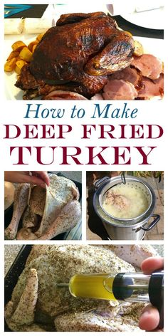 Crispy outside juicy inside A faster way to make turkey. Herb butter injected Crispy outside juicy inside A faster way to make turkey. Herb butter injected marinade adds flavour throughout with a tasty dry rub Deep Fried Turkey Source by whitney_w_evans Christmas Turkey, Thanksgiving Turkey, Thanksgiving Recipes, Holiday Recipes, Holiday Meals, Thanksgiving Prayer, Thanksgiving Appetizers, Thanksgiving Outfit, Holiday Time