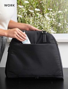 The O.G. & O.M.G., lightweight overnight bag with interior pockets for work, gym and travel