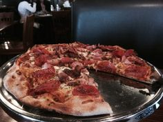 Amazing 1/2 price pizza at Axel's Bonfire in Savage, MN - early and late Happy Hour.