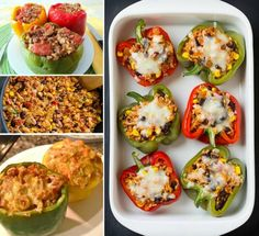 Chicken Fajita Stuffed Bell Peppers- good video with boil them for three minutes tip
