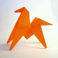 *Broken* How to make an Origami jumping horse (press the picture to be relocated to the website)