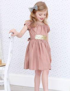 New Mini Boden Sequin Sash Dress Ivory Size yr Little Kid Fashion, Toddler Fashion, Kids Fashion, Little Girl Dresses, Flower Girl Dresses, Girls Dresses, Flower Girls, Dress Sash, Kid Styles