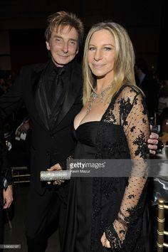 Barry Manilow and Barbra Streisand attends 2011 MusiCares Person of the Year Tribute to Barbra Streisand at Los Angeles Convention Center on February 2011 in Los Angeles, California. Get premium, high resolution news photos at Getty Images Los Angeles Convention Center, Barry Manilow, Barbra Streisand, Types Of Music, Prom Dresses, Formal Dresses, My Music, The Beatles, Are You The One