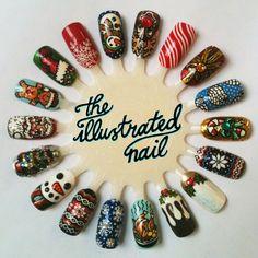 The Illustrated Nail - Christmas Nail Art