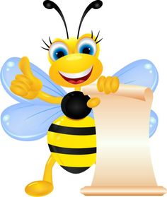 Moving cartoon bee PNG and Clipart