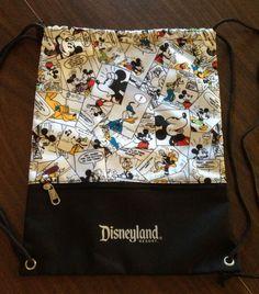 Disney Mickey Mouse Cartoon Comic Drawstring Backpack Mickey Mouse Cartoon, Mickey Mouse And Friends, Disney Mickey Mouse, Disney Travel, Disney Trips, Mickey Mouse Luggage, Disney Purse, Disney Stuff, Disneyland