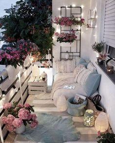 Small Balcony Design, Small Balcony Decor, Balcony Ideas, Small Patio, Patio Ideas, Modern Balcony, Outdoor Balcony, Balcony Garden, Garden Ideas