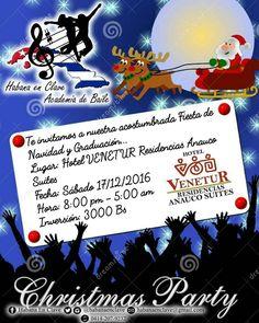 @habanaenclave #Caracas Como es de costumbre el próximo Sábado 17-12-2016 estaremos realizando nuestra Fiesta de Navidad y Fin de Año en la que aprovecharemos de celebrar la Graduación como Bailadores de Salsa Casino del grupo de Alumnos que este año lograron culminar el pensum de la academia así como la aprobación de su Tesis Coreográfica.  Te esperamos en el Hotel Venetur Residencias Anauco Suites a partir de las 8:00 pm hasta las 5:00 am del domingo para celebrar disfrutar y compartir de…