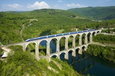 The Cize-Bolozon viaduct is a road-rail bridge crossing the Ain gorge in France.. #CizeBolozon #France .. Visit us on Facebook:  https://www.facebook.com/groups/imagesfromallovertheworld