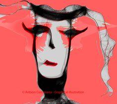 © Antxon Castresana - Graphical illustration Sinfonía velada  NO puedes tocarme NO puedes olerme NO puedes verme.Que puedo hacer,escribir y escucharte.Pero te puedo sentir.
