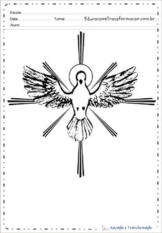 Desenhos De Pombas Dove Drawing, Holy Ghost, Print Coloring Pages, Spiritism