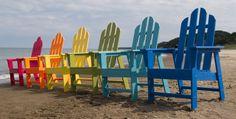POLYWOOD® Recycled Plastic Long Island Adirondack Dining Chair - Adirondack Chairs at Hayneedle Beach Chairs, Patio Chairs, Outdoor Chairs, Outdoor Decor, Garden Chairs, Outdoor Living, Outdoor Ideas, Wood Patio, Backyard Patio