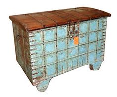 Old Chest with Wheels