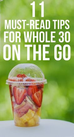Tips to learn how to eat healthy on vacation and on the go!