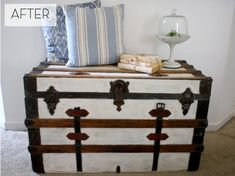 Fresh Steamer Trunk Makeover » Curbly | DIY Design Community