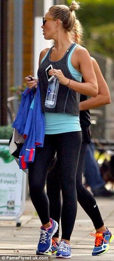 Alex Gerrard heads off for her daily workout #dailymail