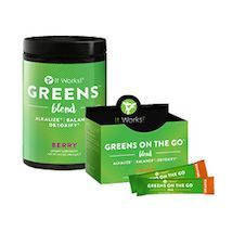 GREENS!  My favorite!  Vegan, Non-GMO, Dairy Free, Soy Free, Gluten Free, Allergen Free!  34 Fruits and Veggies, 52 herbs and nutrient rich superfoods!  NO Artificial Colors or Sweetners!