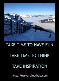 Sometimes taking time out is the best way to move forwards.