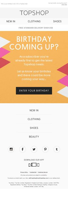 campaign layout email marketing birthday Digital M -