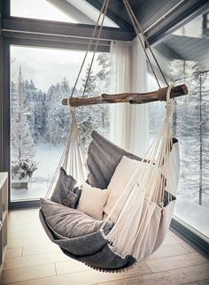 Hammock chair for home and garden, for interior and relax.- Hammock chair for home and garden, for interior and relax. by HammockChairStudio… Hammock chair for home and garden, for interior and relax. by HammockChairStudio on Etsy - My New Room, My Room, Bedroom Decor, Decor Room, Bedroom Ideas, Bed Ideas, Swinging Chair, Rocking Chair, Home And Deco