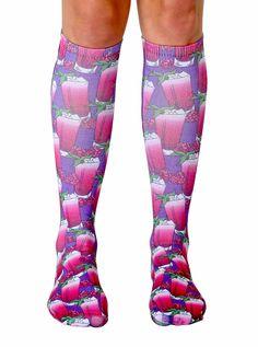 Raspberry Mojito Knee High Socks