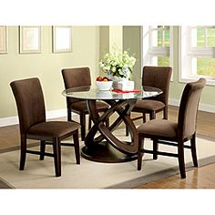 @Overstock - The perfect mix of understated elegance and quiet simplicity allows our Keystone Dining Set to command the attention dining room style. This set includes a dining table and four chairs.http://www.overstock.com/Home-Garden/Keystone-5-piece-Espresso-Finish-Dining-Set/6613950/product.html?CID=214117 $1,112.39