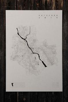 dodatki - plakaty, ilustracje, obrazy - inne-Plan Warszawy_tektura