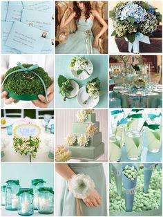 Marry You Me: Inspiration Board: Sea Glass Wedding