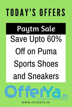 Paytm Sale : Save Upto 60% Off on Puma Sports Shoes and Sneakers