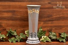 Roseville Pottery 1904-05 Floral Blue Aztec Vase #3 - The Kings Fortune