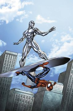 Silver Surfer and Spiderman