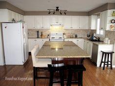 Remodelaholic | Kitchen Renovation: Adding an Island