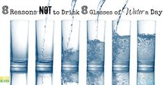 8 reasons not to drink 8 glasses of water a day!
