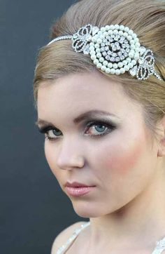 great gatsby headbands | Great Gatsby headband - 1920s art deco style wedding headdress - Great ...