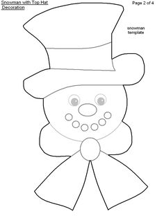 471 best craft ideas images diy christmas decorations christmas Fake Oakley Holbrook printable snowman top hat pattern templates printable free free printables christmas hat christmas