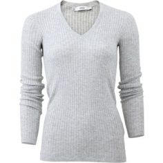 Skinny Ribbed V-neck Sweater by Vince