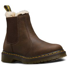 Dr. Martens Women's Leonore Boots #21069201 Dark Brown - Runnwalk Dr. Martens, Toddler Winter Boots, Dr Martens Store, Look Cool, Comfortable Shoes, Shoe Boots, Women's Boots, Leather Shoes, Me Too Shoes