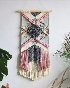 Ideas Wall Tapestry Woven Fiber Art For 2019 Weaving Wall Hanging, Weaving Art, Loom Weaving, Tapestry Weaving, Wall Tapestry, Hand Weaving, Wall Hangings, Weaving Projects, Weaving Techniques