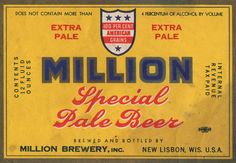 I like beer as much as the next gal, but what I really like is awesome beer labels! Recently, I borrowed and scanned a huge collection vintage beer labels ...
