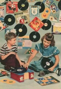 toy phonograph. these records always sounded pretty scratched. but fun, though.