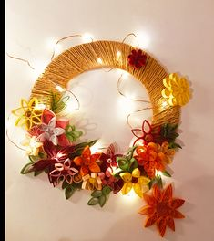 #flowerdecor #colors #flowers #quilling #quillingflower #forsale School Projects, Flower Decorations, Quilling, Wreaths, Colors, Fall, Artwork, Flowers, Blog