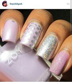 Alexis does it again! #nailart #dotticure #nails #nailpolish #holopolish