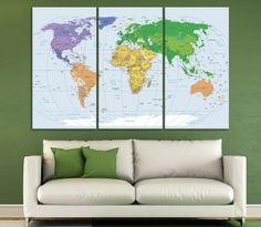 Large world map wall art with countries names canvas printextra large world map wall art with countries names canvas printextra large grey world map home decor world map canvas print ready to hang walls gumiabroncs Image collections
