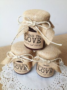 Spread the Love jam jars by Frankies Girl