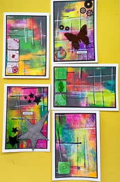 Mixed media cards by kidmandesign