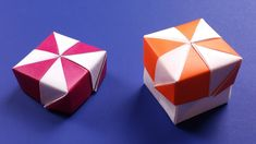 Origami Pinwheel Box with Lid - DIY Candy Cane Paper Box Easy Tutorial - YouTube