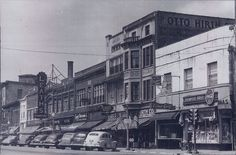 Drekmeier Drug and Otto Hirths on East Grand Avenue in Downtown Beloit, WI in 1940.